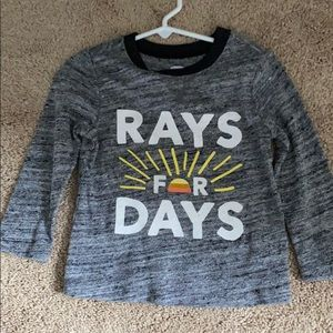 Toddler Boys Rays For Days Long Sleeve Tee NWOT
